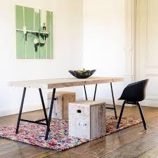 industriele tafel steigerhout met schragen van pure wood design markita nl