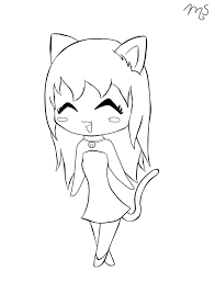 Small Picture Cat Girl Animal Coloring Pages Coloring Pages