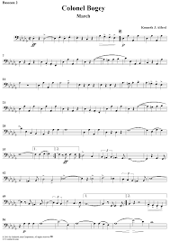 bassoon sheet music colonel bogey march bassoon 2 sheet music for piano and more