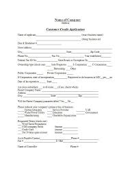 Business Credit Check Form 40 Free Credit Application Form Templates