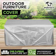 cover for outdoor furniture. Set 10-Seater Sofa Waterproof Outdoor Furniture Cover Garden Patio Table Chair For E