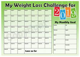 Chart Track Weight Loss Challenge 2019 Chart Keep Track Of Your Loss