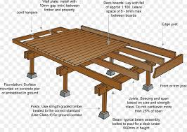 deck architectural engineering lumber building joist wooden guardrail