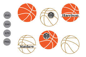 Basketball Svg Designs Basketball Monogram Basketball Svg Cut Files