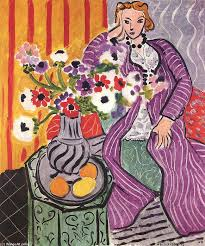 famous painting purple robe and anemones of henri matisse