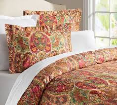 rosalie paisley duvet cover sham red pottery barn