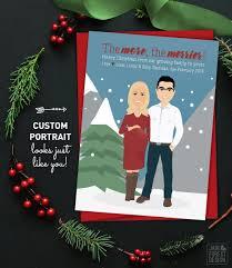 Christmas Pregnancy Announcement Card Custom Family