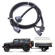 mictuning 65 trailer hitch wiring harness kit 4 way 07 17 jeep image is loading mictuning 65 034 trailer hitch wiring harness kit