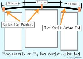 the secret to diy bay window curtain rods from