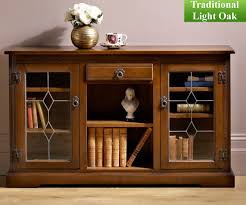 old charm classic 2793 low bookcase with glass doors