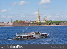 eurasia water taxi motors by the peter and paul fortress on the neva river in