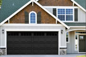 the hshire garage door in black