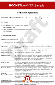 Hr Contract Templates Custom Settlement Agreement Formerly Compromise Agreement