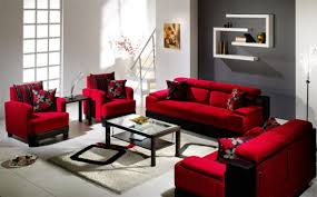 living room red sofa 1