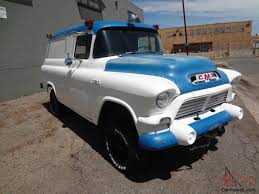 All Chevy chevy apache 1957 : GMC NAPCO Civil Defense Panel Truck - SUPER RARE