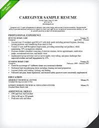 Caregiver Resume Skills Caregiver Resume Sample Caregiver Job Skills