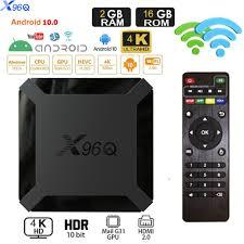 X96Q Android 10.0 Smart Tv Box Allwinner H313 Quad Core 4K Youtube Set Top  Box X96 Mini Media Player Ondersteuning Voice Control - Mega Discount  #C6FB91