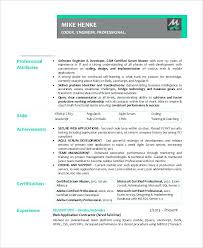 Resume Certification Sample Experienced Scrum Master Resume Cpr