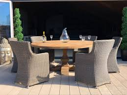seville 6 chair set outdoor rattan