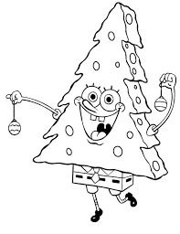 Spongebob Merry Christmas Coloring Page Coloring For Girls Merry