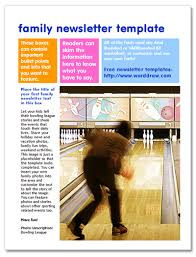 free newsletter templates for word free family newsletter templates for microsoft word from worddraw com
