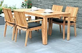 round wood outdoor table teak