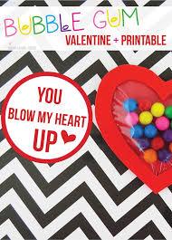 blow my heart up bubble gum valentine craft