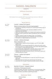 Contract Software Qa Engineer Resume samples
