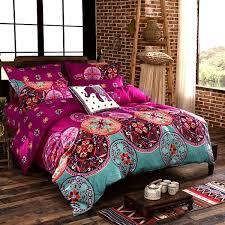 hot 4pcs oriental mandala polyester twin full queen size bedding pillowcases quilt duvet cover set newchic