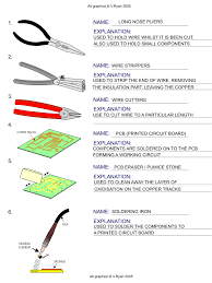 electrical tools and equipment with name. lesson starter - equipment and components answers electrical tools with name