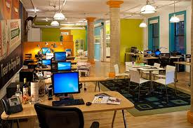 wonderful brown green blue wood glass modern design cool work space interior pendant lamp computer desk awesome office narrow long computer desk