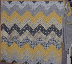 Chevron yellow and gray baby quilt & Attached Images Adamdwight.com