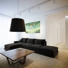 Modern Black Living Room Furniture Modern Minimalist Black And White Lofts