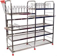 Maharaja Stainless Steel kitchen wall rack design