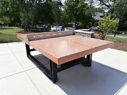 concrete ping pong table. Outdoor Ping Pong/tennis Table. Concrete Pong Table