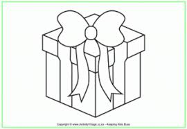 Small Picture Christmas Present Colouring Pages