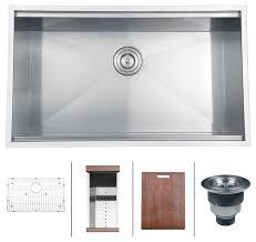ruvati rvh8300 undermount 16 gauge 32 kitchen sink single bowl contemporary kitchen sinks