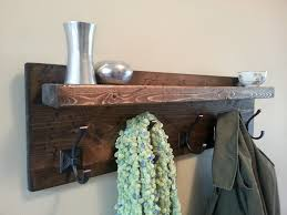 Rustic Coat Rack With Shelf Reclaimed Wood Decor Floating Shelf 72