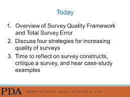 presentation survey examples conducting high quality surveys frameworks and strategies for