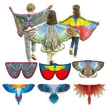 Bird Costumes Butterfly Wings Dragon Carnival Costume Blue Jay Scarlet  Macaw Magpie Wings Boys and Girls Halloween Costume Boys Costumes