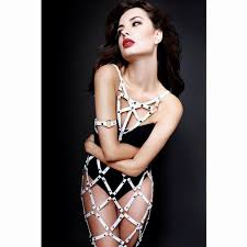 women leather harness belts suspenders cover patterm skirts handmade gothic harness