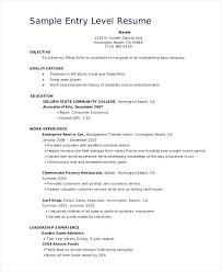 Entry Level Sales Resume - Kerrobymodels.info