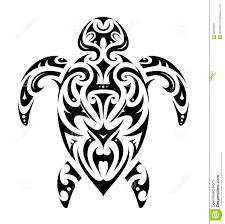 маорийская форма черепахи стиля иллюстрация вектора иллюстрации