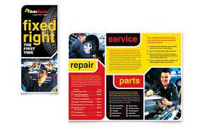 Advertisement Brochure Gorgeous Auto Repair Brochure Template Design