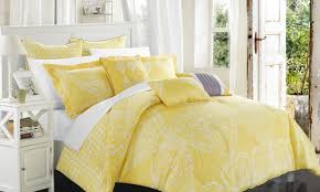 pillow sets for bed.  Bed Yellow Comforter Set On Bed With Pillow Sets For Bed Overstockcom