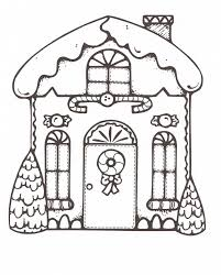 Gingerbread House Color Page Christmas Coloring
