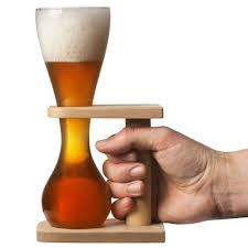 pauwel kwak beer gl with stand
