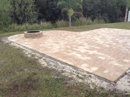 patio pavers with fire pit. Backyard Paver Patio Tampa, Pavers Firepit Builders Tampa With Fire Pit