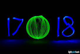 happy new year from light paint
