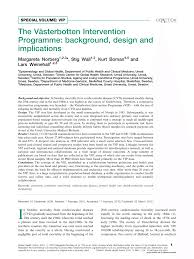 Pdf The Vasterbotten Intervention Programme Background Design And